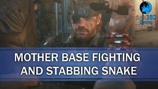 getlinkyoutube.com-Mother Base Staff Fighting and Stabbing Snake! - Metal Gear Solid V: The Phantom Pain
