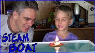 getlinkyoutube.com-How to make a simple toy steam boat - Make Science Fun