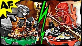 getlinkyoutube.com-NRG KAI vs CHOKUN 9591 Lego Ninjago Weapon Pack Spinjitzu Battle & Stop Motion Set Review