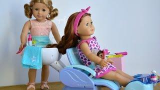 getlinkyoutube.com-American Girl Doll Haul Salon Spa Sets