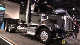 getlinkyoutube.com-2016 Freightliner 122SD Sleeper Tractor with DD16 530hp Engine - Exterior and Cabin Walkaround