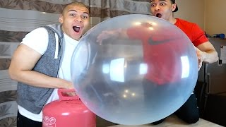 EXPERIMENT - WUBBLE BUBBLE VS HELIUM !!! | PrankBrosTV