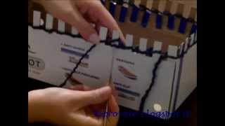 getlinkyoutube.com-Knit with a box - Sciarpa infinity usando una scatola