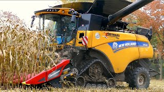 getlinkyoutube.com-New Holland CR 10.90 on tracks | Corn and Corn Cob Harvest | Aernouts Tax