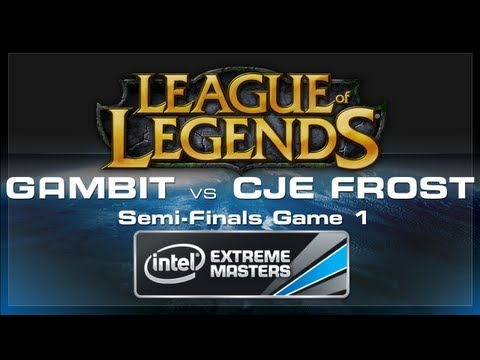 Gambit Gaming vs CJ Entus Frost Game 1 - LoL (Semi-Finals) - IEM World Championship 2013