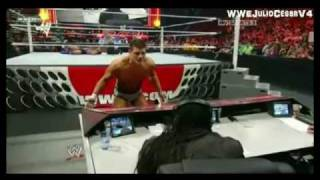 Cody Rhodes Attacks Booker T - WWE Raw 11/21/2011 (1st on YouTube)