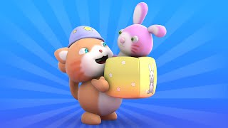 getlinkyoutube.com-Looi the Cat | 3D Animation for Kids | Bunny | Animal Toy Cartoons | Puzzle
