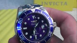 getlinkyoutube.com-INVICTA MENS 21 JEWEL AUTOMATIC GRAND PRO DIVER BLUE DIAL WATCH 3045