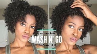 getlinkyoutube.com-Easy Naturally Curly Hair Routine  Defined Wash n' Go 4a 3c Hair