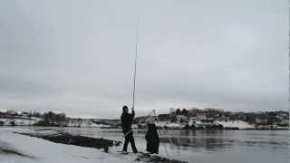 getlinkyoutube.com-Norway fishing from Shore Skarnsundet