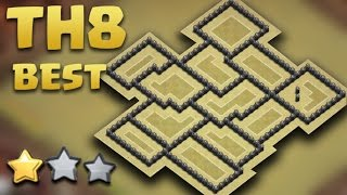 getlinkyoutube.com-Town Hall 8 World Best War Base Ever (TH8 war AnTi 3 Star) AnTi Gowipe/Dragon/Goho 2016 + REPLAYS