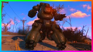 getlinkyoutube.com-Fallout 4 - How To Get A Powerful Sentry Bot Follower! - Most LETHAL Robot Follower! (FO4)