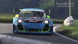 getlinkyoutube.com-Epic run: Porsche 997 GT3-R with full onboard at Hillclimb Gurnigel 2016 by Jürg Aeberhard