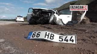 Şehit Polis Ailesi Erzincan'da Kaza Geçirdi: 5 Yaralı