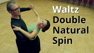 getlinkyoutube.com-Waltz Routine with Double Natural Spin | Waltz Figures