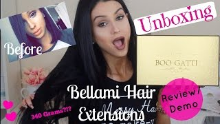 getlinkyoutube.com-Bellami Hair Extensions BooGatti Unboxing, Review/Demo ⎮Thickest Extensions