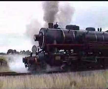 1943 Baldwin Steam Locomotive starting off