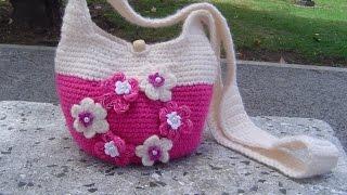 getlinkyoutube.com-Como hacer Bolso tejido a  crochet paso a paso  parte 2/2