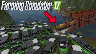 getlinkyoutube.com-CAN 100+ HARVESTER STOP THE TRAIN IN FARMING SIMULATOR 2017?