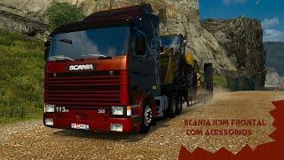 Euro Truck Simulator 2 - Scania 113 Frontal com Acessórios