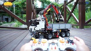 getlinkyoutube.com-LEGO Technic 42043 - RC Motorized Mercedes-Benz Arocs 3245 by 뿡대디