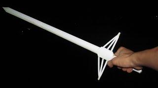 getlinkyoutube.com-Как сделать длинный меч бумаги | 60cm
