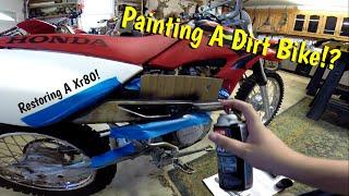 getlinkyoutube.com-Painting A Dirt Bike! (Xr 80 Restore)