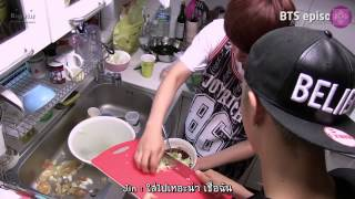 getlinkyoutube.com-[Thaisub] 1st BTS Birthday Party (Jin chef of BTS)