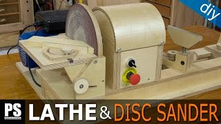 getlinkyoutube.com-Homemade Lathe & Disc Sander Part3