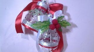 getlinkyoutube.com-Best Out Of Waste Plastic Bottles Lovely Christmas Bells