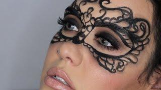 getlinkyoutube.com-Maquillaje Fantasía - Máscara Elegante