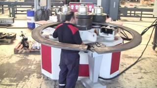 getlinkyoutube.com-AKYAPAK AKBEND APK180 Profil Bükme Makinesi Test Videosu 2011