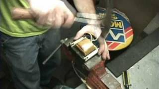 getlinkyoutube.com-How To Recycle Magnet Wire From A Transformer