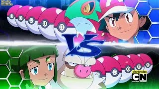 getlinkyoutube.com-Pokemon XY&Z Ash vs Sawyer Fourth/League Battle English Dub