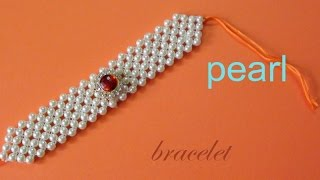 getlinkyoutube.com-How to make a pearl bracelet