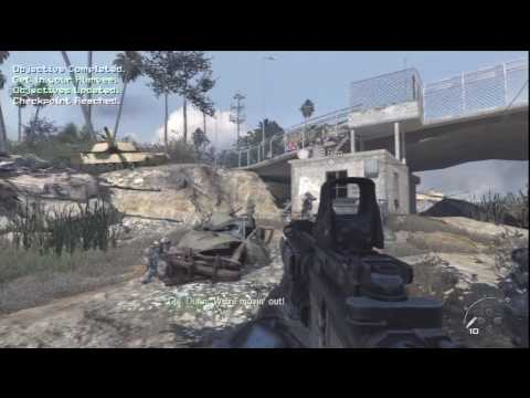 02. Call of Duty: Modern Warfare 2 - HD Veteran Difficulty Walkthrough - Team Player part 1/2