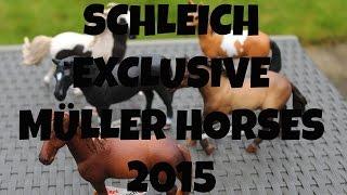 getlinkyoutube.com-SCHLEICH EXCLUSIVE MÜLLER HORSES 2015   horzielover