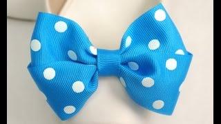 getlinkyoutube.com-DIY How to make Grosgrain Polka dots Bow, Tutorial, DIY, Polka dots #2