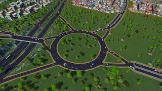 getlinkyoutube.com-How to Create More Efficient Roundabouts ► Cities Skyline Tips