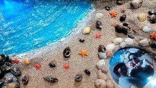getlinkyoutube.com-Maqueta cuadro o diorama playero con conchas y leds (Manualidad recuerdo vacaciones)