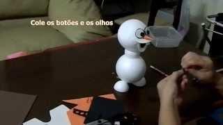 getlinkyoutube.com-Como fazer um lindo boneco Olaf do desenho Frozen