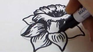 getlinkyoutube.com-How To Draw Flowers - Daffodil Tutorial