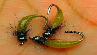 getlinkyoutube.com-Tying a Simple Caddis Larvae by mak 2016