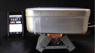getlinkyoutube.com-【エスビット&固形燃料】 メスティンギリギリの 無洗米を炊飯するの巻