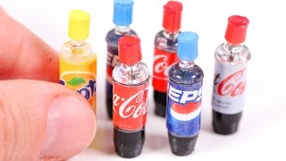getlinkyoutube.com-DIY Miniature Soda Bottles ~ Coca-Cola etc.