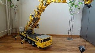 getlinkyoutube.com-Lego Big Mobile Crane 2, motorized