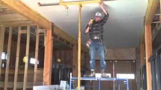 getlinkyoutube.com-One man drywall install