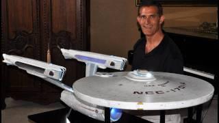 getlinkyoutube.com-Star Trek 6 foot scratch built Enterprise A - Construction