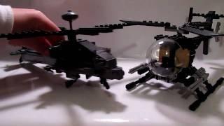 getlinkyoutube.com-Lego AH/MH-6 Little Bird and AH-64 Apache Review