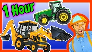 getlinkyoutube.com-Colors Song, Nursery Rhymes, Learn to Count for Toddlers– Tractor Backhoe Collection for kids–1 Hour